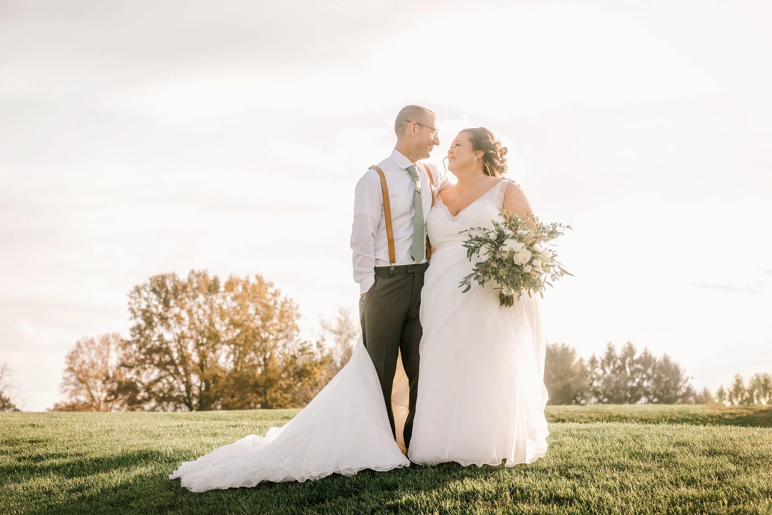 top of farm wedding photo